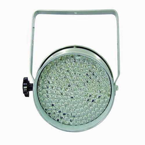 EUROLITE LED PAR-64 RGB DMX-ohjattava LED-heitin 5-kanavaa, RGB multivärit miksattavissa, Automatiikalla voi säätää värien feidaus aikaa, Sisäänrakennettu mikrofoni, Master ja slave toiminne yhdenmukaiseen vaihtoon! LED spot 183x 10mm 10°, 32W, alu, Professional Spot as LED DMX model! RGB LED-valoheitin eli väriä vaihtava!