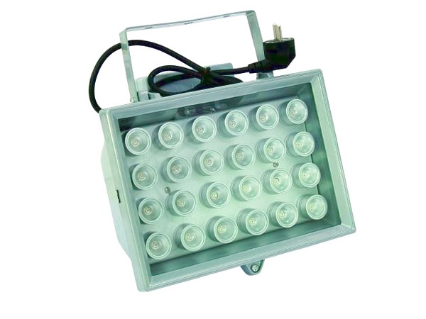 EUROLITE LED FL-24 red 40° IP54, Brilliant floodlight with LED-technology, indoor/outdoor use