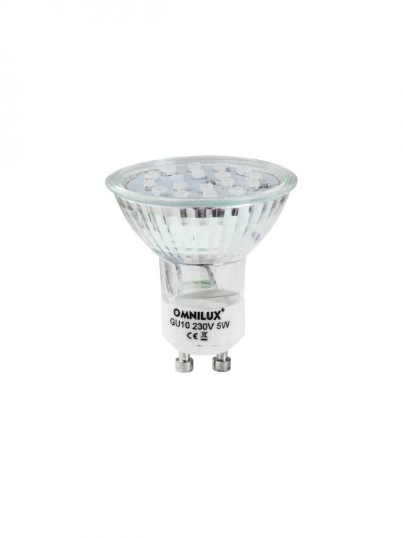 OMNILUX GU-10 led polttimo vaihtuvin värein 230V 18 LED SC= Switching Colors