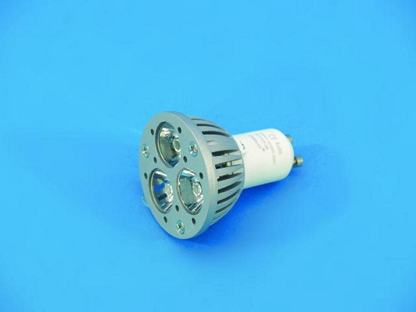 OMNILUX GU-10 LED-lamppu 230V 3x 1W LED yellow CR, keltainen