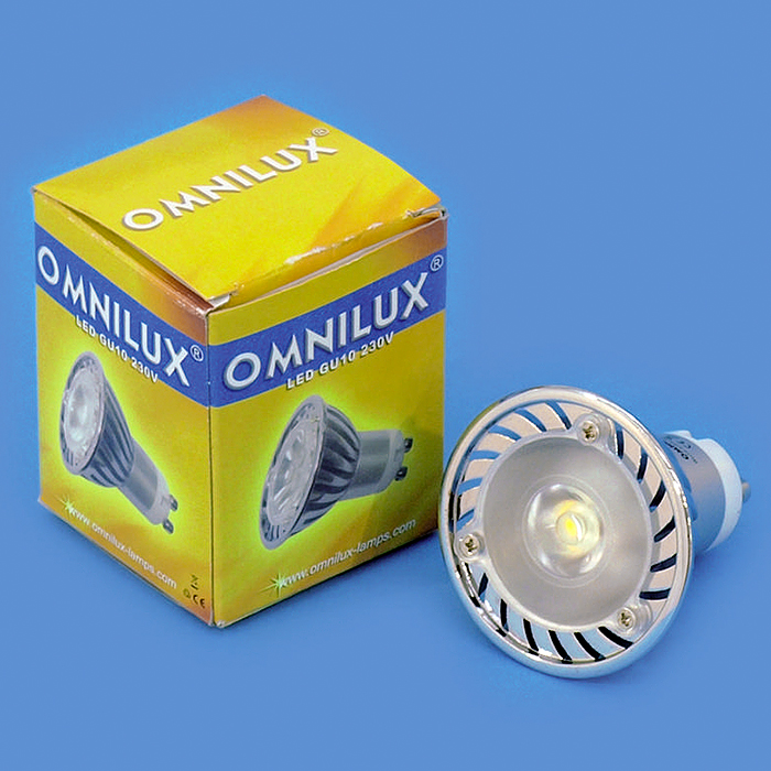 OMNILUX GU-10 LED-lamppu 230V 3W LED blu, discoland.fi