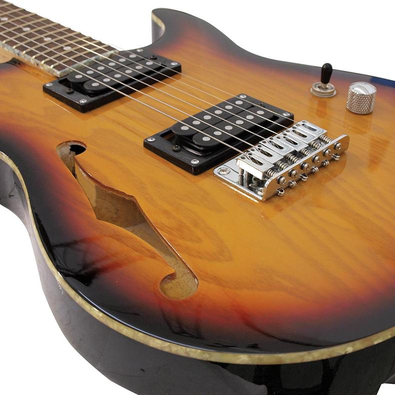 DIMAVERY POISTO! JG-502 sähkökitara, sunburst musta väri. Kaula vaahteraa, Premium Electric Guitar sunburst