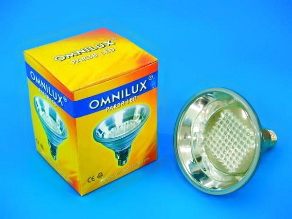 OMNILUX PAR-38 LED 230V E-27 81x 5mm LED, discoland.fi