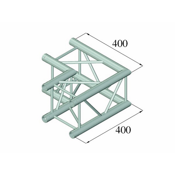 ALUTRUSS DECOLOCK 2-tie kulmapala 90° DQ4-PAC21 2-way corner piece