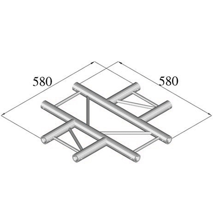ALUTRUSS DECOLOCK 4-tie risteyspala DQ2-PAC41H. 4-way cross piece
