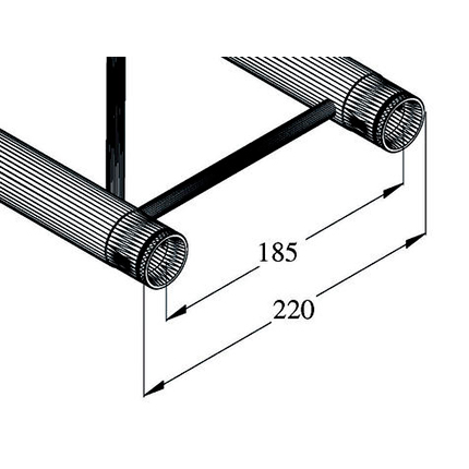 ALUTRUSS DECOLOCK 4-tie risteyspala DQ2-PAC44V. 4-way cross piece