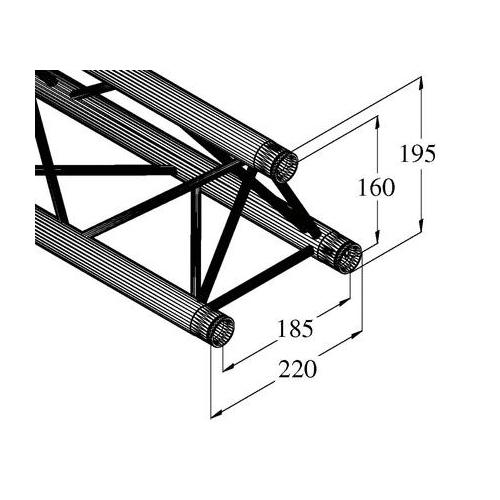 ALUTRUSS DECOLOCK trussi DQ3-200 pikalukittava 3-pistetrussi pituus 200mm