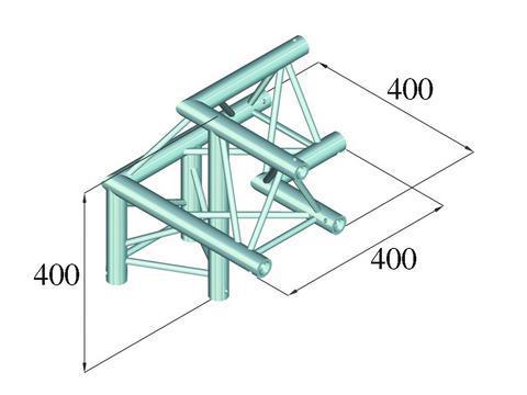 ALUTRUSS DECOLOCK  3-tie kulmapala 90° DQ3-PAL31. 3-way corner piece
