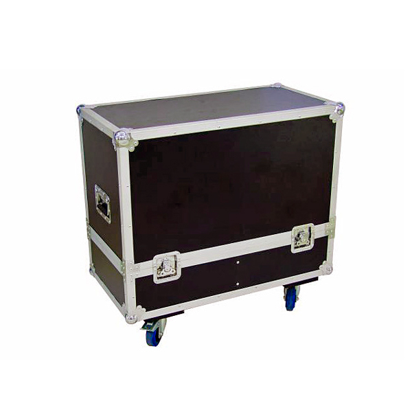 ROADINGER Kuljetuslaatikko kaiuttimille, varustettu pyörillä. Flightcase for 2x PAS-212. Professional flight case for 2 x PAS-212, with castor