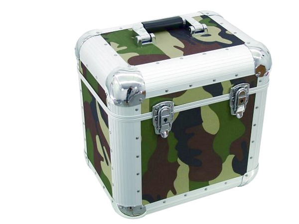 OMNITRONIC Record case 80 LPs CAMO maxi booking, rounded