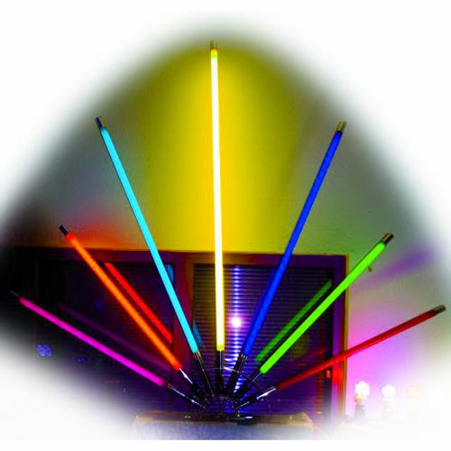 EUROLITE Jalusta eurolite neon stick valoille. Erittäin tukeva. Yhteen jalustaan voi kiinnittää useita valaisimia (jopa 7kpl).
