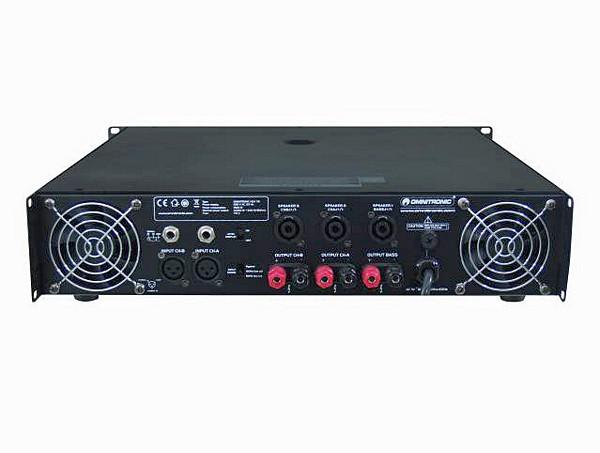 OMNITRONIC B-stock.Poisto! Käytetty. HDA-7.6 Amplifier 3140W, 3-kanavainen vahvistin jakosuotimella, 4ohms 2x 820W + 1500W, 8ohms 2x 350W + 600W. poisto! 2-kanavaa yläpäille ja 1-kanava bassokaiuttimelle.Jakosuodin sekä Low cut filter sisäänrakennettuna, joten erillistä suodinta ei tarvita.
