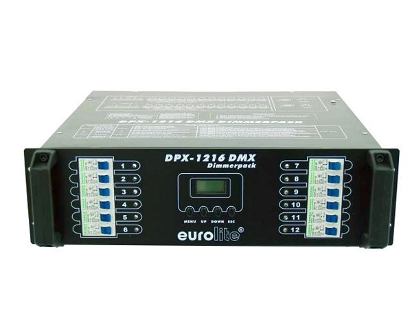 EUROLITE DPX-1216 DMX 12-channel x 3680W, can be dimmed/switched, Max. output 44160W, pole connectors