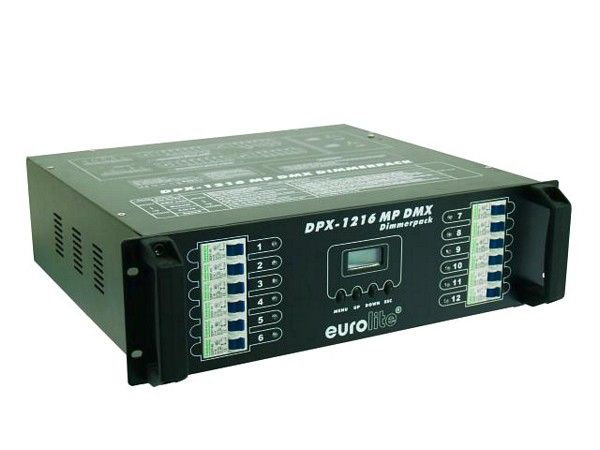 EUROLITE DPX-1216 DMX MP 12-channel x 3680W, can be dimmed/switched, Max. output 44160W, two 16-pin sockets