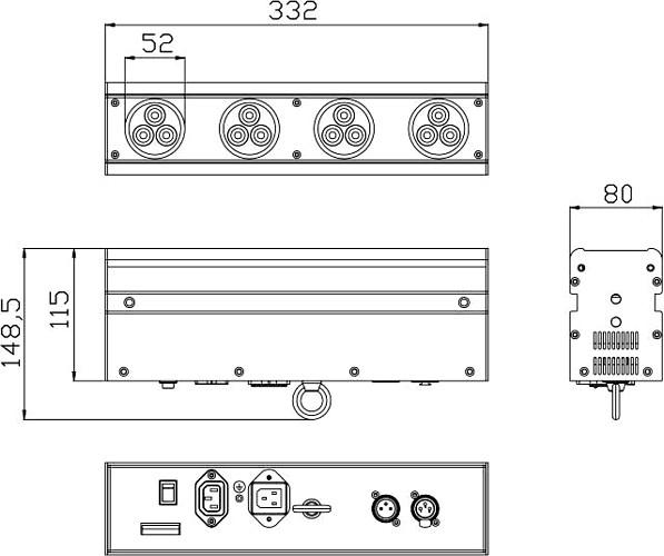 FUTURELIGHT LB-12 LED-Bar 30W 12x 1W LEDs, Ultra Flexible LED Colour Changer