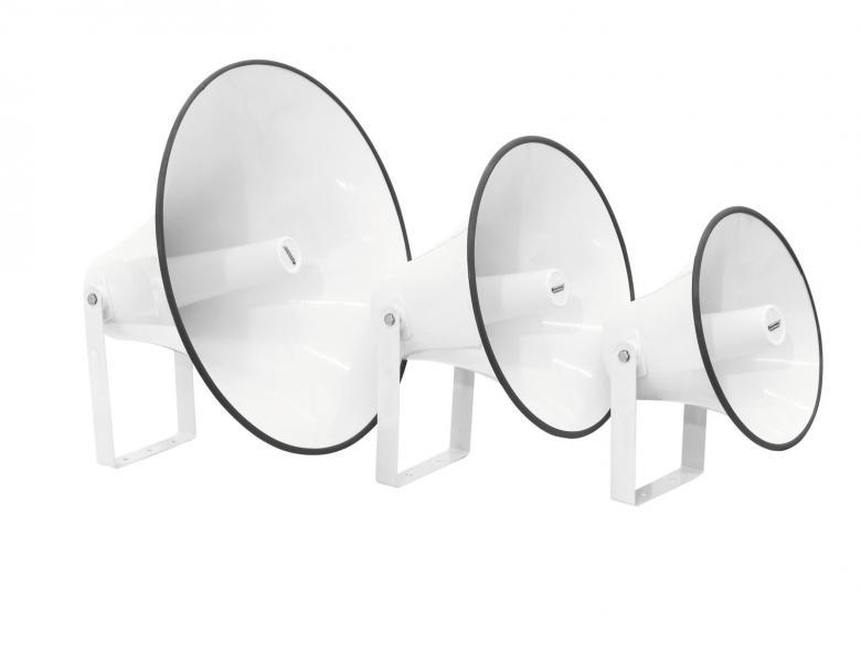 OMNITRONIC EH-400 PA torvikaiutin ilman driveria iso kaiutin antaa suuren äänen yleisötilaisuuksin kuulutuksiin. Mitat 400 x 400 x 280 mm sekä pakkauksen paino 2,85kg.