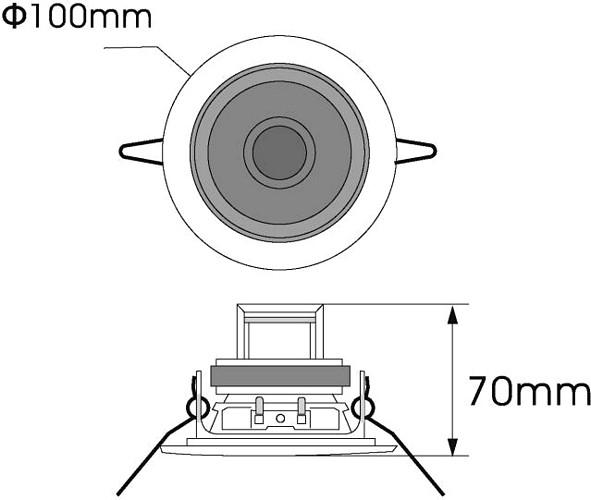 OMNITRONIC CS-2.5S kattokaiutin hopea 2,5