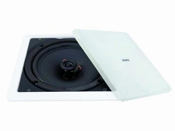 OMNITRONIC CSQ-5 kattokaiutin 100V, kiinteään asennukseen ceiling speaker square 2,5/5/10W RMS
