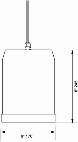 OMNITRONIC WP-15W kattokaiutin roikkuva 100V Ceiling speaker ABS 5/10/20W RMS