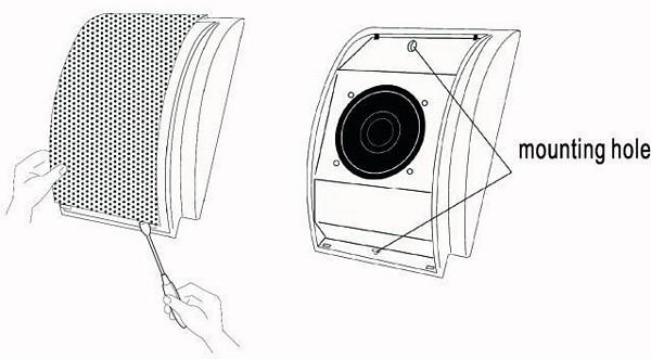 OMNITRONIC WC-2 Seinä-/kattokaiutin, pinta-asennus, 100V 3/6W RMS