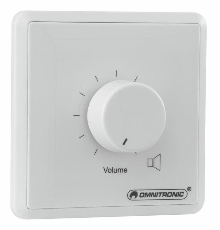 OMNITRONIC PA Volume Control 30W mono white with 24 V Emergency Priority Relay