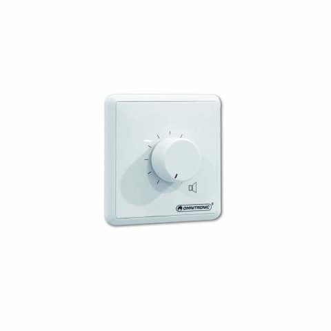 OMNITRONIC PA Volume Control 45W mono white with 24 V Emergency Priority Relay