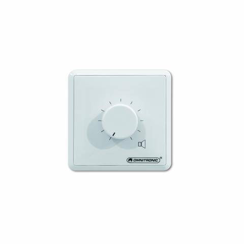 OMNITRONIC PA Volume Control 60W mono white with 24 V Emergency Priority Relay