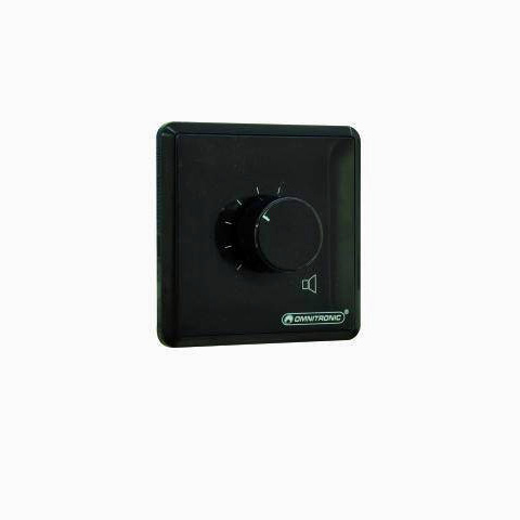 OMNITRONIC PA Volume Control 5W mono black with 24 V Emergency Priority Relay