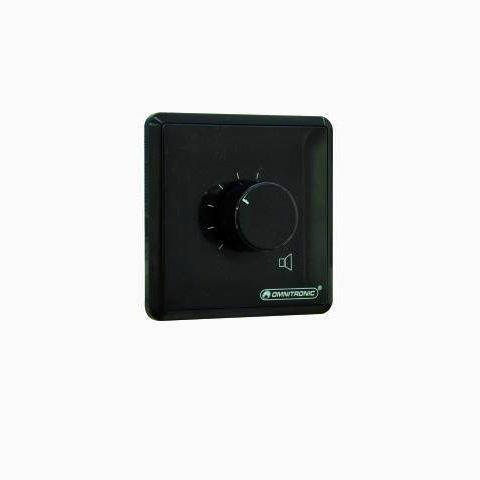 OMNITRONIC PA äänenvoimakkuuden säädin 10W musta Volume Control 10W mono black with 24 V Emergency Priority Relay
