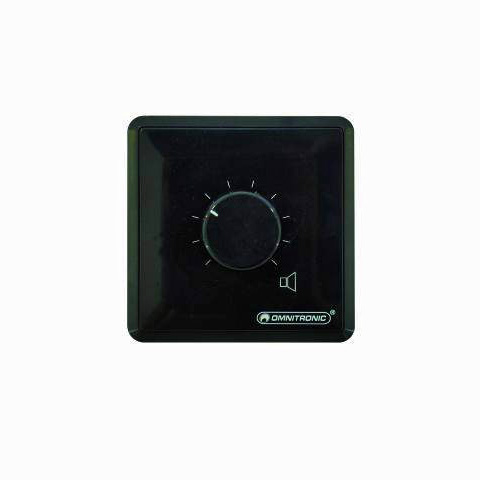 OMNITRONIC PA volume controller 45W mono black, PA Volume Control with 24 V Emergency Priority Relay