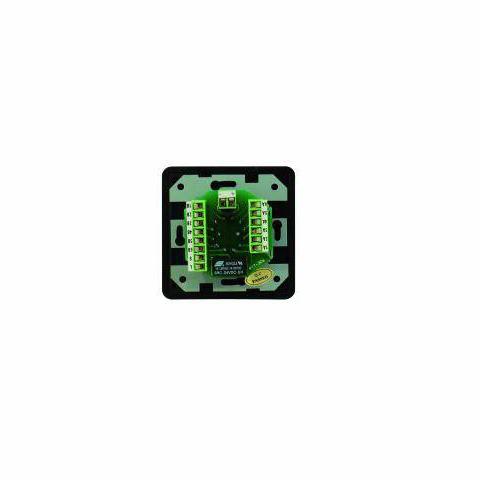 OMNITRONIC PA mono ohjelmavalitsin kuudelle äänilähteelle musta. Program Selector mono black with 24 V Emergency Priority Relay