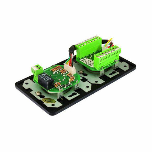 OMNITRONIC PA Program Selector + Volume Control 5W mono black with 24 V Emergency Priority Relay