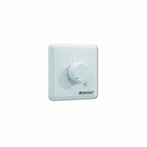 OMNITRONIC PA äänenvoimakuuden säädin 10W valkoinen stereo 4ohm. Volume Control 10W stereo white, 4 ohm stereo amplifier input and 4 ohm stereo speaker output