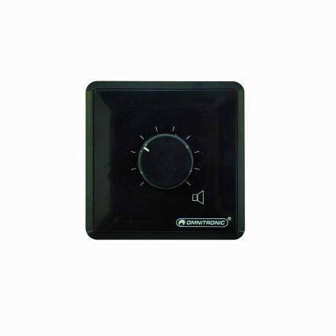 OMNITRONIC PA Volume Control 5W stereo black, 4 ohm stereo amplifier input and 4 ohm stereo speaker output