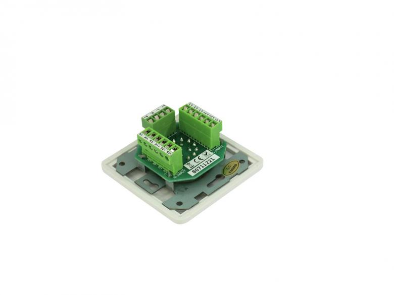 OMNITRONIC PA Stereo ohjelmavalitsin kolmelle ääni lähteelle valkoinen program selector for 3 signal sources, white, Switches one of 3 stereo signal sources to 2 stereo speaker outputs