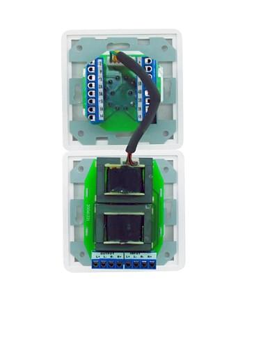 OMNITRONIC ELA Program Selector + Volume Control 20W stereo white with 24 V Emergency Priority Relay