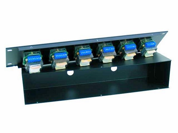 OMNITRONIC PA 6-Zone Volume Control 6x 45W with 24V Emergency Priority Relay, black