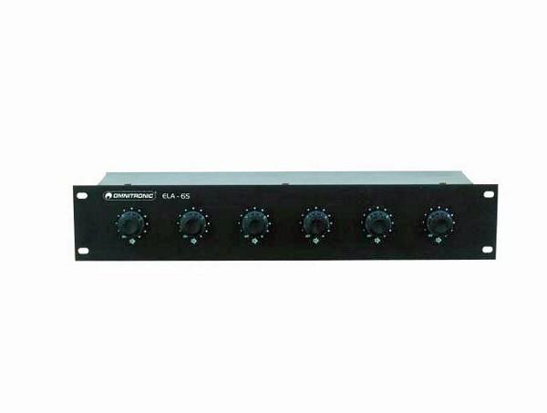 OMNITRONIC ELA 6S, 6-Zone Stereo Volume , discoland.fi