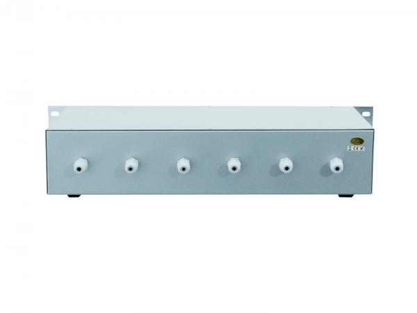 OMNITRONIC ELA 6S, 6-Zone Stereo Volume Control 6x 30W, silver
