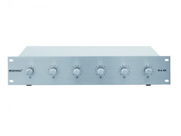 OMNITRONIC ELA 6S, 6-Zone Stereo Volume Control 6x 45W, silver