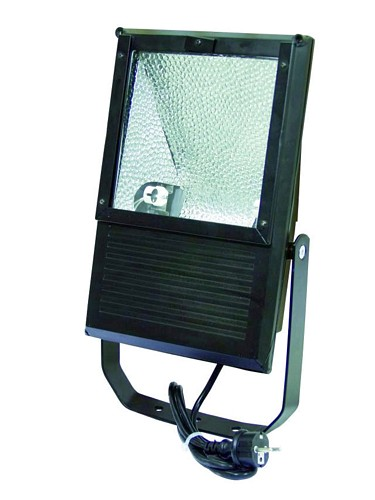 EUROLITE Ulkovalo spotti, tehokkaalle 42W energian säästölampulle, IP 65, Outdoor Spot 42W ES WFL black IP65, For bright energy saving lamp