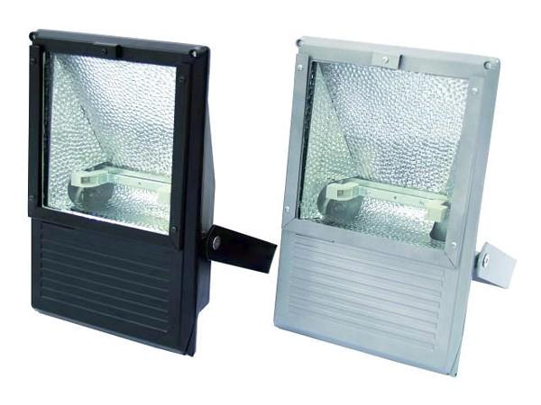 EUROLITE Ulko valonheitin, spotti 100- 500W lampuille, IP65, Outdoor Spot 100-500W WFL black, IP65. Toimii edullisella Työmaavalo polttimolla R7S!