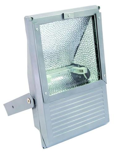 OMNILUX Ulko valonheitin, spotti 100- 500W lampuille, IP65, Outdoor Spot 100-500W WFL silver, IP65. Toimii edullisella Työmaavalo polttimolla R7S!