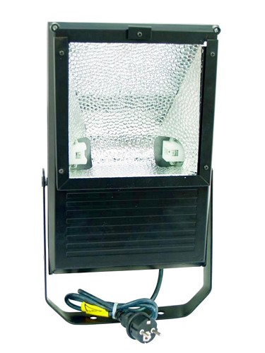 EUROLITE Ulkovalaisin tehokkaalle 70W kaasupurkaus lampulle, IP65, Outdoor Spot 70W WFL black, For bright 70W discharge lamp