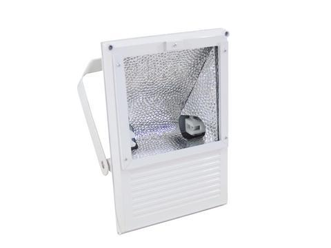 EUROLITE Ulkovalaisin 150W IP65, tehokaallle kaasupurkauslampulle, Outdoor Spot 150W WFL white IP65, For bright 150 W discharge lamp