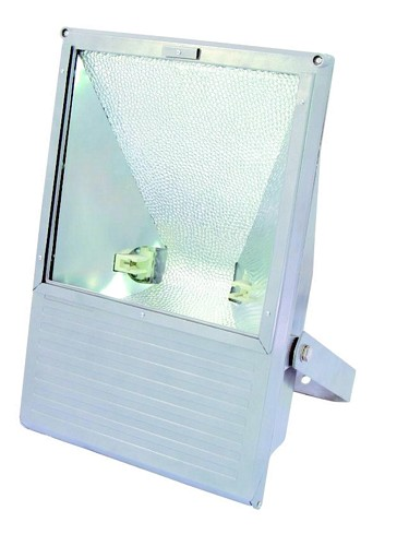 EUROLITE Ulkovalaisin WFL tehokaalle 250W kaasupurkauslampulle IP65. Outdoor Spot 250W WFL silver IP65, For bright 250W discharge lamp