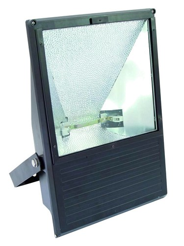 EUROLITE Ulkospotti 750-1000W WFL musta IP65, With halogen pole burner socket 189mm for 750W or 1000W lamps