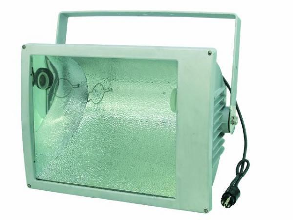 EUROLITE MIKH-2000S Outdoor Spot E40 Silver IP65, For bright halogen lamps up to 2000W. Ulkovalaisin, erittäin tehokas 2000W.