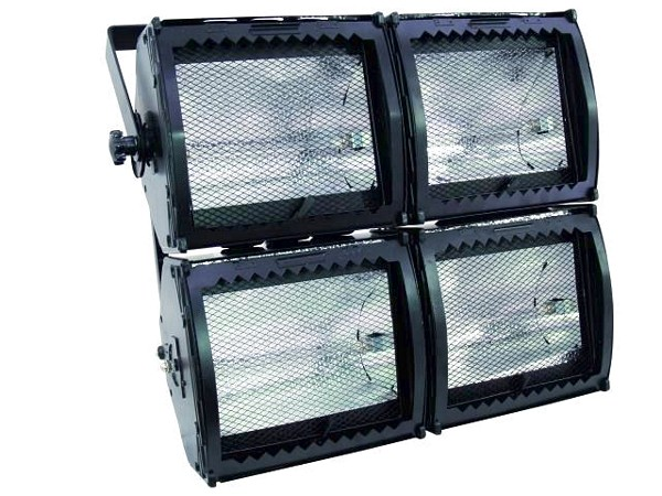 EUROLITE Pro-Flood heitin 4000AH 4x1000W asymmetric R-7-s with filter frames, Cluster Version!
