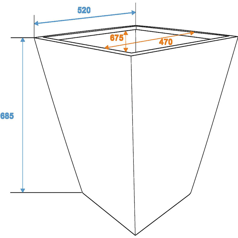 EUROPALMS Suojaruukku D52/H=69cm [] lasikuitua.